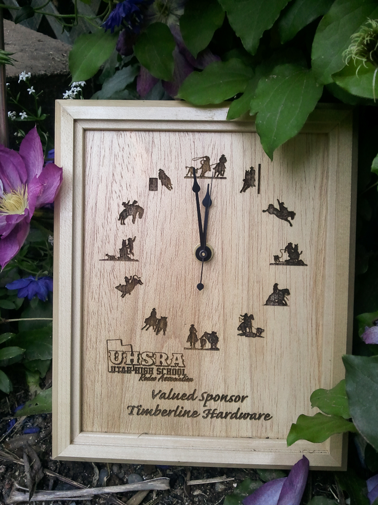 #14 Birch clock