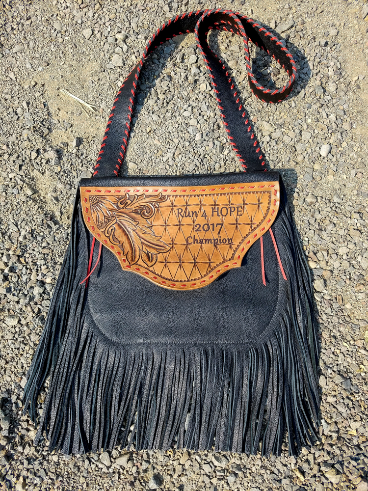 #43 Fringed award purse