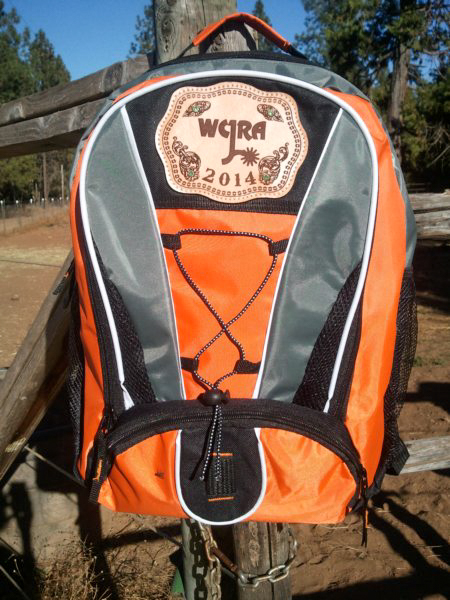 #7 Back pack with lasered award shield